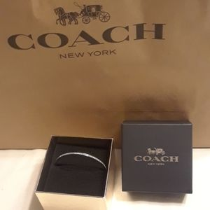 NWOT silver coach bangle